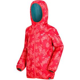 Regatta Printed Lever Jacket Girls Coral Blush